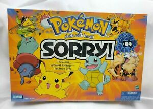 Pokemon Sorry Board Game Parker Brothers Hasbro Complete Factory Sealed MINT