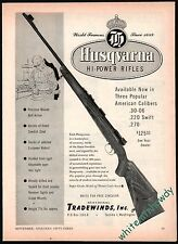 1953 HUSQVARNA Super Grade Hi-Power Rifle AD Original Firearms Advertising