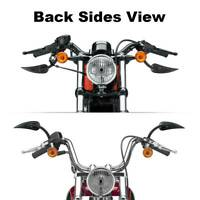8mm Black Rear View Mirrors Fit For Harley Softail Touring FLHX Sportster 1200