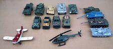 LOT JOUETS véhicules militaires TANK hélicoptère différentes marques pour pièces