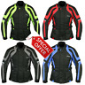 RKSports COMMANDER WATERPROOF MOTORCYCLE MOTORBIKE JACKET BLACK CE ARMORS