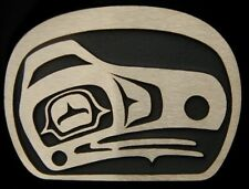 Kwakiutl Raven Solid Bronze Belt Buckle Rainbow Metals Brand New