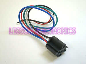 "Accele Heavy Duty 14 Gauge Copper 5 Wire Relay 16"" Prewired Plug Harness NEW"