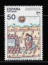 ESPAÑA 1989 TEMA AMERICA UPAEP 3035 AGRICULTURA INCAICA, RIEGO DEL MAIZ 1v.