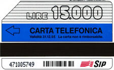 *G 343 C&C 2372 SCHEDA TELEFONICA USATA NUMERO VERDE 15.000 L.