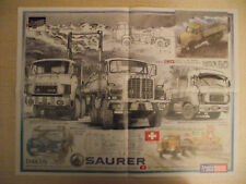 FRANCE ROUTES Poster CAMION : SCANIA  T 143 PIERNAS Graphite Garage : SAURER