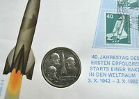 1982 GERMANY 40 JAHRESTAG DES ERSTEN ERFOLGREICHEN COMMEMORATIVE MEDAL AND STAMP