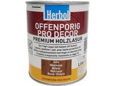 Herbol Offenporig Pro-Decor Premium Holzlasur 0,375L, Walnuss