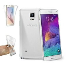 Funda Doble Silicona para SAMSUNG GALAXY NOTE 4 Gel TPU Transparente 360º  s901