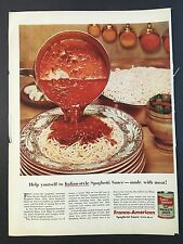 1955 Vintage Ad for Franco-American Spaghetti Sauce with Meat