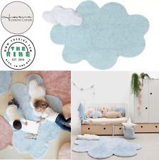 Lorena Canal Machine Washable Cotton Rug Puffy Dream Blue Baby Safety Home Decor