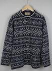 Focus Herren M Muster Vintage Wollmischung Pullover Sweatshirt Italien! 17412_J