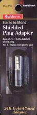 Headphone Adapter 1/8 3.5mm Male Stereo Plug to 3/32 2.5mm Female Mono Jack