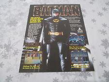>> BATMAN ATARI OFFICIAL ARCADE ORIGINAL USA HANDBILL FLYER CHIRASHI! <<