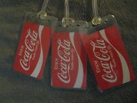 Coke Coca Cola Soda Pop Red & White Vintage Playing Card Luggage Name Tag Tags 3