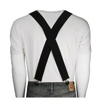 Adult Men's Steampunk Victorian Black Halloween Costume Thick X-Back Suspenders