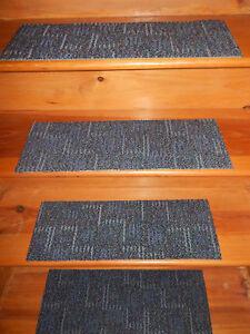 12  Step  8'' x 24''  In Door Stair Treads Staircase Step Rug Carpet.