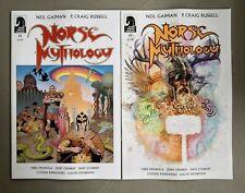 2x Norse Mythology Neil Gaiman A B Russell Mack Mignola Dark Horse Comics Hot