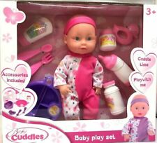 Large Lifelike Soft Bodied Baby Doll Girls Boys Toy With Feeding Accessories