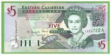 ANTIGUA -EAST CARIBBEAN STATES  - 5 DOLLARS - 2003 - P-42 - UNC - REAL FOTO