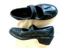 Woman's EASTLAND 6.5M Black Leather Low Heel Mary Jane Heels SHOES USED