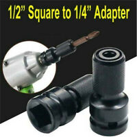 """1/2"""" Drive To 1/4"""" Hex Drill Chuck Converter Socket Adapter For Impact Wrench ~"""