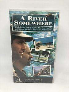A RIVER SOMEWHERE SERIES (6 EPISODES) VHS FLY FISHING, VGC Free Tracked Shipping