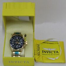 BNIB INVICTA 17101 Mens Corduba Chrono Stainless Steel Bracelet Black Dial Watch