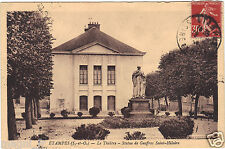 91 - cpa - étampes - The theatre - Statue of Geoffroy Saint Hilaire
