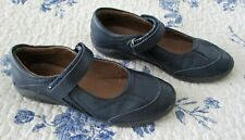 "STRIDE RITE NAVY BLUE ""MARY JANE"" GIRLS SHOES. SIZE 2.5W. PREOWNED (6348)"