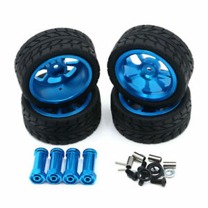 4Pcs RC Car 12mm Hex Tires & Wheel for 1/14 Wltoys 144001 A959 Upgrade Parts