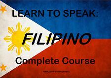 LEARN TO SPEAK FILIPINO - SPOKEN LANGUAGE COURSE -11 HRS AUDIO MP3 + BOOK ON DVD