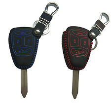 Leather Key Cover FOB Shell for Chrysler Dodge JEEP Commander Grand Cherokee