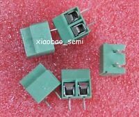 100pcs 5mm Pitch 2 pin 2 way Straight Pin PCB Screw Terminal Blocks Connector