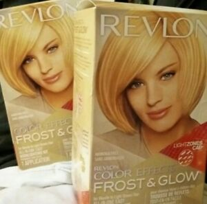 Lot 2x REVLON Colorsilk Color Effects Frost & Glow Blonde Easy Highlighting Kit