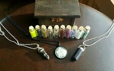 Book of Shadows Wiccan display spell box potion items pentagram necklace