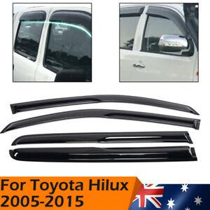 Luxury Weather Shields Weathershields Window Visor for Toyota Hilux 2005-2015 AU