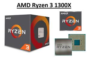 AMD Ryzen 3 1300X Quad Core Processor 3.5 - 3.7 GHz, Socket AM4, 65W CPU