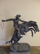 "Replica Bronze Bronco Buster Sculpture by Frederick Remington, 54""Hx55""Wx25""D G6"