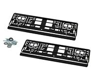 2 Kennzeichenhalter Nummernschildhalter Hochglanz Schwarz  für Audi Q3 Q5KHP_1