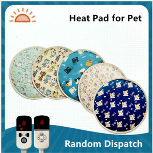 Pet Heat Pad Puppy Electric Heated Mat Blanket Dog Cat Whelping Bed With Timer S