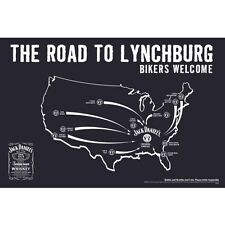 JACK DANIELS ROAD TO LYNCHBURG POSTER  36 BY 24 GLOSSY