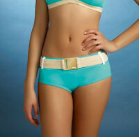 FREYA Supernova RETRO BIKINI SHORT Brief Turquoise Blue 9536 UK 8-10  XS NEW