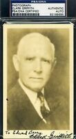 Clark Griffith Psa/dna Signed Photo Autograph Authentic