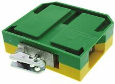 2way EK 35 Earth Block Screw 6 > 2 AWG 58mm Green Yellow DIN Rail Terminal Block