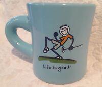 Life is Good Blue Mug Golf Do What You Like