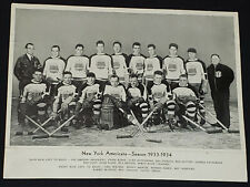 1933/34 - NEW YORK AMERICANS - NHL HOCKEY TEAM - HALL OF FAME - PHOTO - ORIGINAL