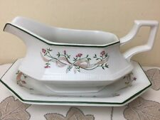 Johnson Brothers Eternal Beau Gravy / Sauce Boat & Stand In Superb Condition