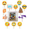 Emoji LOL Birthday Party Scene Setter with Photo Booth Props