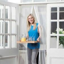 Insect Fly Screen Wasp Patio Door Curtain White Magnetic Mesh Mosquito Bug Net